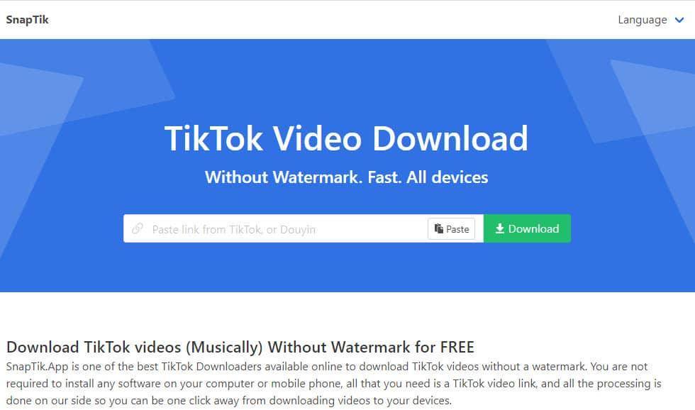 Tiktok Downloader Download Video Tiktok Without Watermark Snaptik